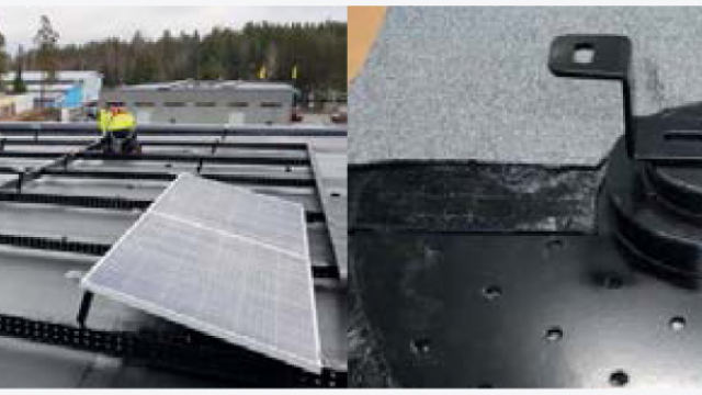 Two solutions for solar cells installation
