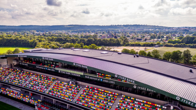 JYSK Park Stadium, Silkeborg i Danmark