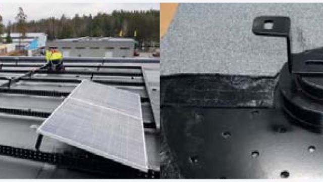 Två lösningar för solcellsinstallationer
